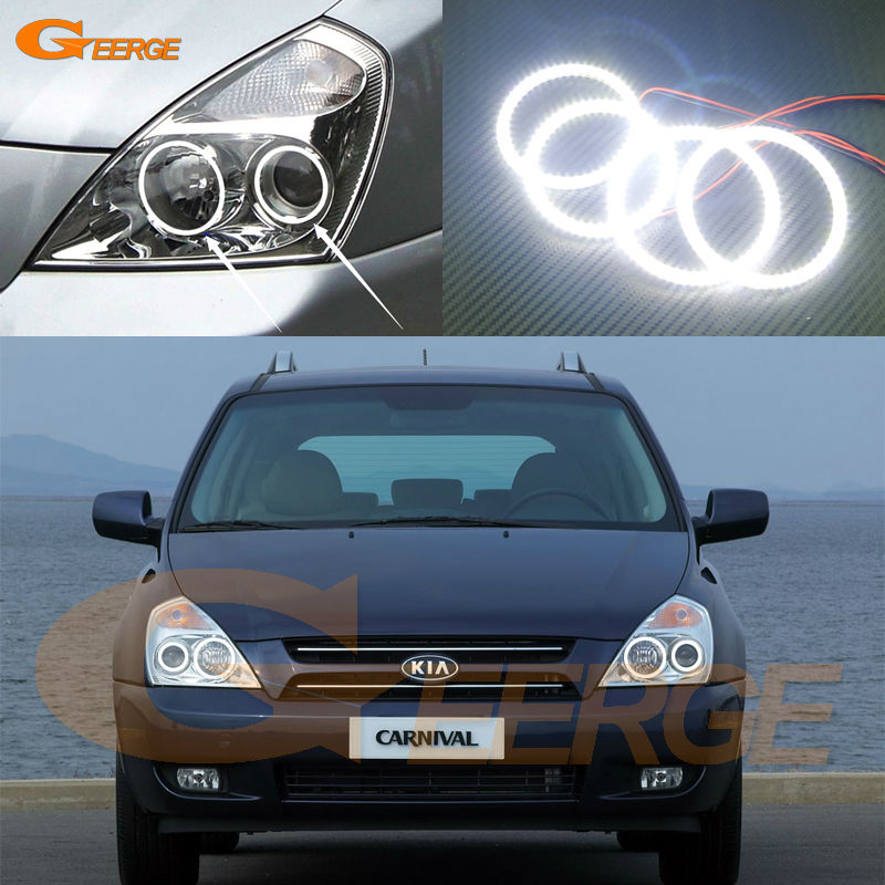 For Kia Carnival 2006 2007 2008 2009 2010 2011 2012 2013 2014 Excellent Ultra bright illumination smd led Angel Eyes kit for kawasaki zx10r 2006 2015 2007 2008 2009 2010 2011 2012 2013 2014 red