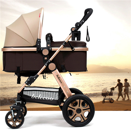Folding Baby Stroller Light Weight Baby Carriage Umbrella Cart Travel Pram High Landscape Pushchair Baby can