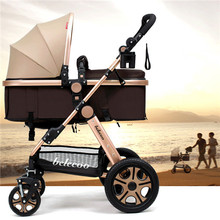 Folding Baby Stroller Light Weight Baby Carriage Umbrella Cart Travel Pram High Landscape Pushchair Baby can Sit and Lie Down
