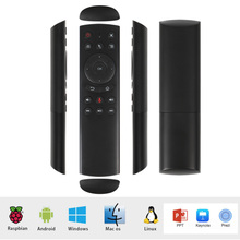 G20 Remote Control 2.4G Wireless Air Mouse Gyro Voice Control Sensing Universal Remote Control IR Learning For PC Android TV Box brand new mini remote control t2 2 4g remote controller sensing air mouse for tv box x96 t95n q box laptop tablet pc