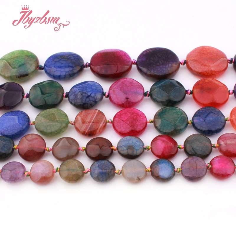 14mm Multicolor Picasso Jasper Gem Coin Loose Bead 15/'/'
