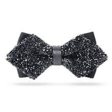 Fashion Luxury Diamond Bow Tie Glitter Crystal Rhinestone Men Tuxedo Bow Tie  Triangle Adjustable for Wedding b0281382ad20