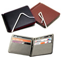 Leather Slim Mens credit card wallet Money Clip Contract Color Simple Design Burnished Edges Brand Men Bifold Wallets carteira
