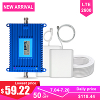 LTE 4G Signal Booster Cellular Cellpnhone Communication Amplifier Kit 70dB High Gain Band7 2600 Repeater 4G Network AGC Antenna>