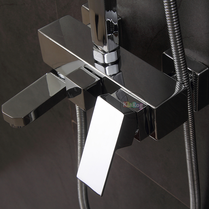 Shower Faucet 3 Functions Shower Mixer Wall Mounted Bathtub Mixing Valve Faucet Mixer Tap Bathroom Mixer