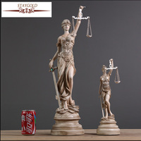 Ancient Greek Goddess Of Justice Themis Statue Resin Crafts Retro Home Decoration