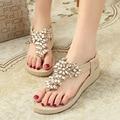 2016 New Fashion Rhinestone Summer Shoes Diamond Women Sandals Flip Flops Handmade Sandals Shoes