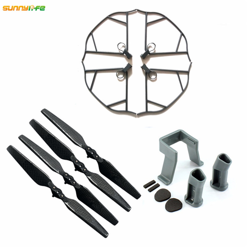 Sunnylife 3In1 8330F Carbon Fiber Quick Release Folding Props Propeller Protection Guard Heightened Landing Gear for