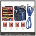 ЧПУ Щит Плата Расширения V3.0 + UNO R3 Совета для Arduino + A4988 Драйвер Шагового Двигателя С Радиатором Комплекты для Arduino