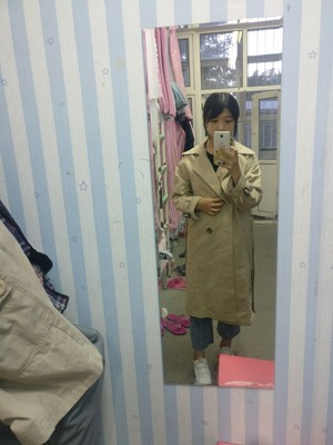 Spring And Autumn Women Fashion Brand Korea Style Waist Belt Loose Khaki Color Trench Female Casual Elegant Soft Long Coat Cloth 49