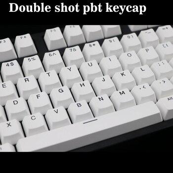 Double shot PBT keycap 108 key ANSI layout OEM Profile Black font Keycaps For Mechanical Gaming Keyboard MX Switches