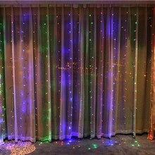 3x3m LED Curtain Light Icing Decoration Lantern Family Festival / Wedding / Party / Curtain / Garden Decoration Light String