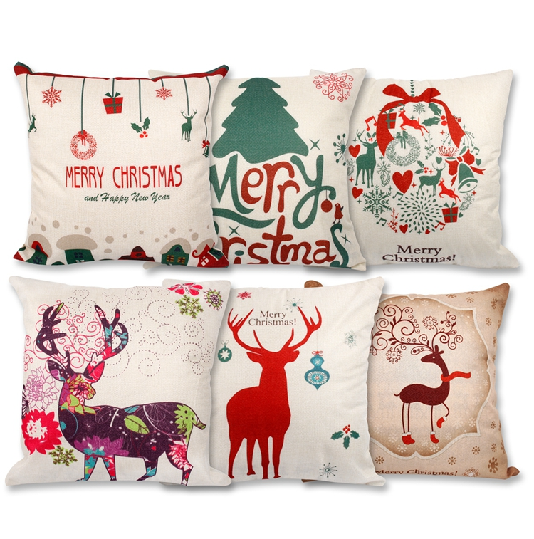 Merry Christmas And Happy New Year Pillow Decoration
