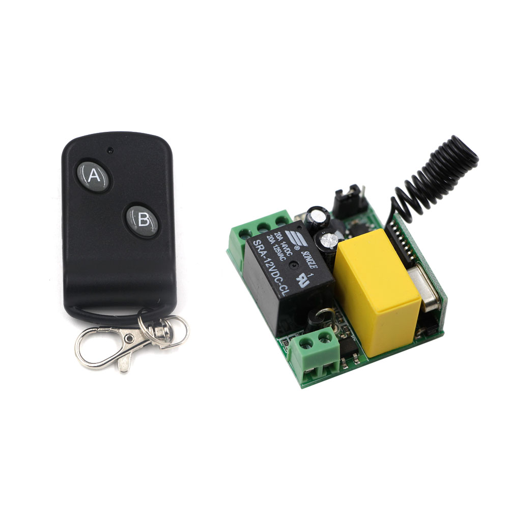 315/433 MHZ 1pcs Mini Receivers AC220V 1CH RF Wireless Remote Control Light Switch System With 1pcs Remote Controller Hot Sale 2 receivers 60 buzzers wireless restaurant buzzer caller table call calling button waiter pager system