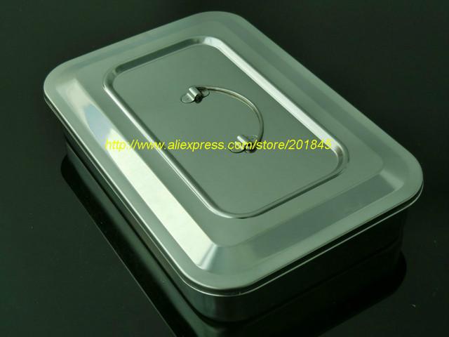 1 Pc aço Inoxidável louças desinfecção bandeja tampa da cassete de placas de 11.5 polegada