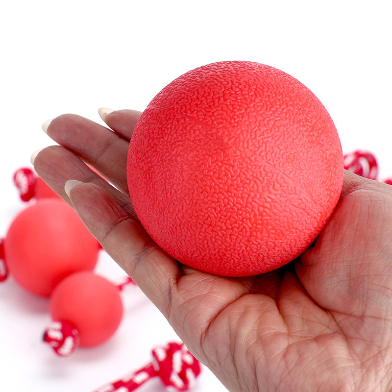 JCPAL 1PCS Red Pet Dog Toy Interactive Rubber Balls Puppy Chew Toys Teeth Chew Toys Tooth Cleaning Balls Food Pet Supplies in Dog Toys from Home Garden