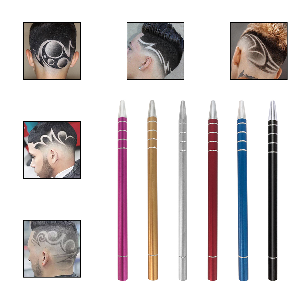 Hot Fashion 10pc Hair Engraved Pen with 100Pcs Blades Hair Styling Hair Trimmers Eyebrows Shaving Salon