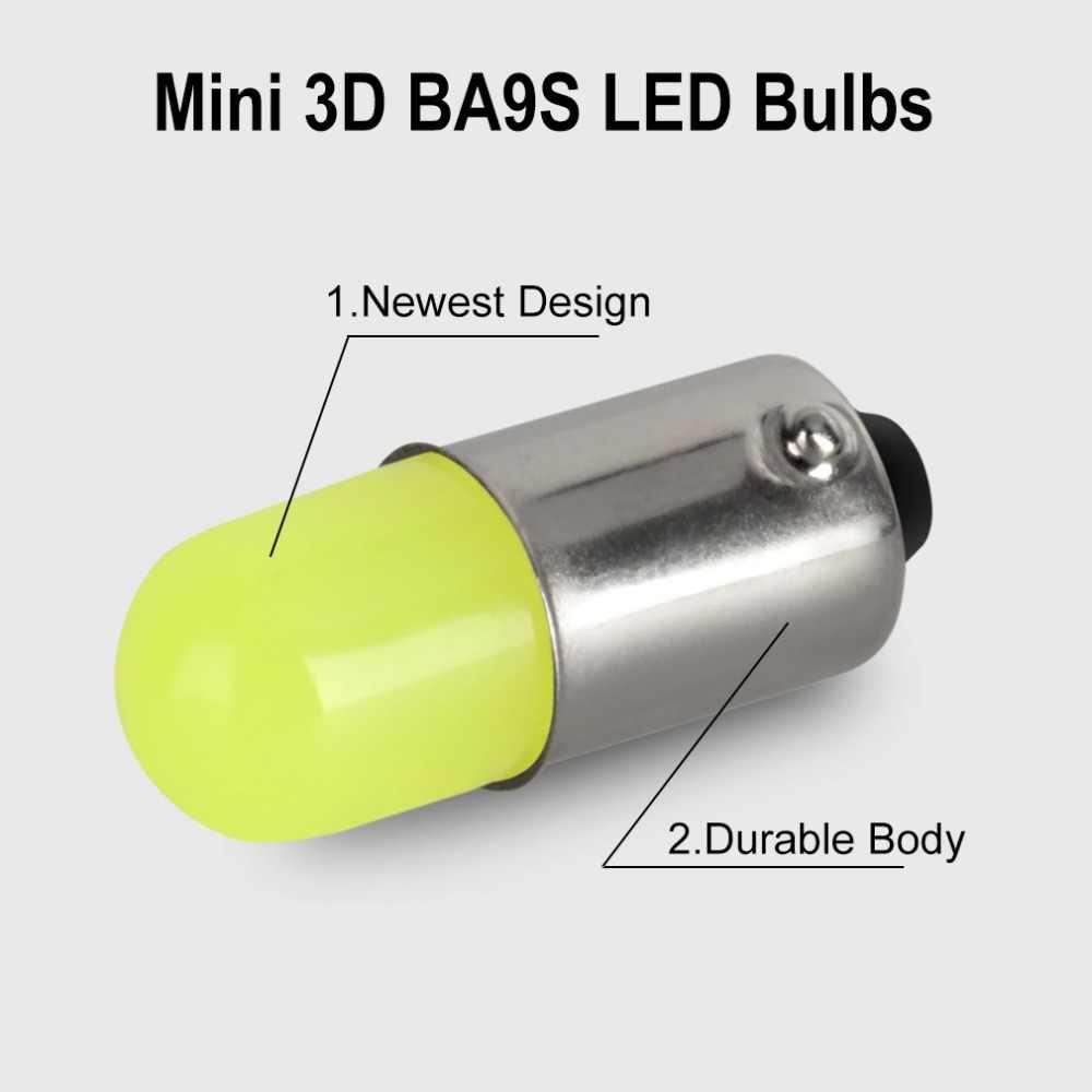 1Pcs BA9S T11 T4W T5 1895 233 Super Terang Bulat 3D Tongkol LED Putih Mobil License Plate Light Auto pintu Interior Lampu Penanda Bola