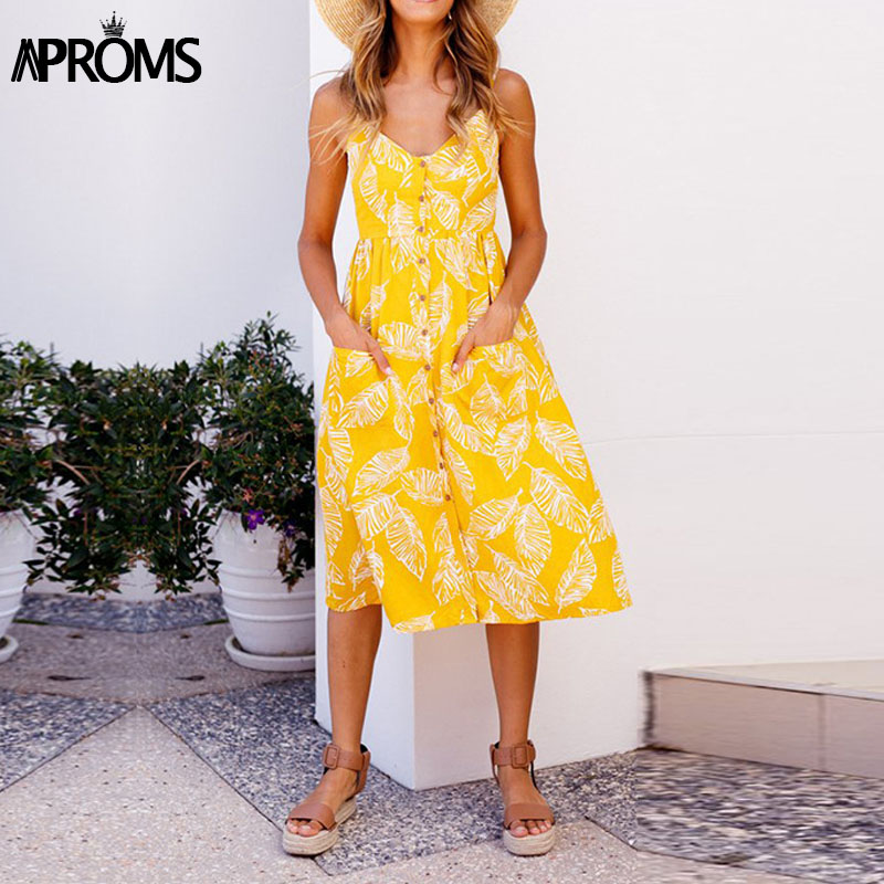 Aproms 27Patterns Print Midi Dress Plus Size Casual V Neck Slim Boho Dress Women Vestido High Wasit Summer Dress Sundresses 2018