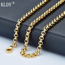 KLDY necklace gold Men's Chain stainless steel necklace for women silver rose gold black chain Customizes jewelry wholesale 2018 недорого