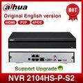 Dahua POE NVR NVR2104HS-P-S2 4CH сетевой видеорегистратор Full HD 1080P рекордер с 1 интерфейсом SATA 2USB