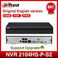 Dahua POE NVR NVR2104HS-P-S2 4CH Network Video Recorder Full HD 1080P Recorder With 1SATA 2USB Interface
