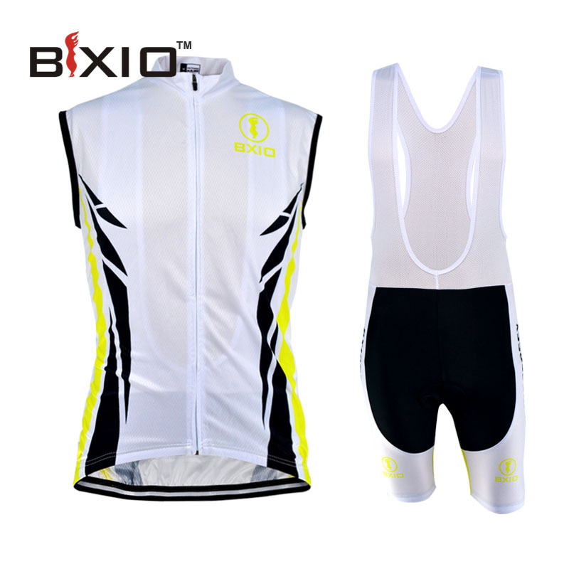 ФОТО Bxio Top Rate Cycling Set Full Zipper Cycling Set Men White Mountain Bike Jersey Cool Maillot Ciclismo Mujer BX-0309YW086