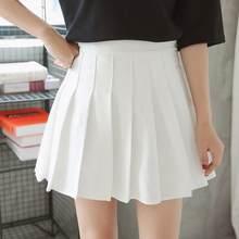 39373c6fc3f New Spring high waist ball pleated skirts Harajuku Denim Skirts solid a-line  sailor skirt Plus Size Japanese school uniform DC87