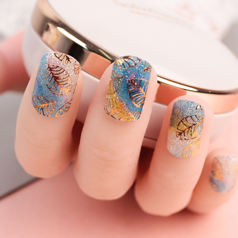 5pcs Nail Stickers Sets Flower Nail Decals Water Transfer Stickers Nail Stickers Fingernail Decoration