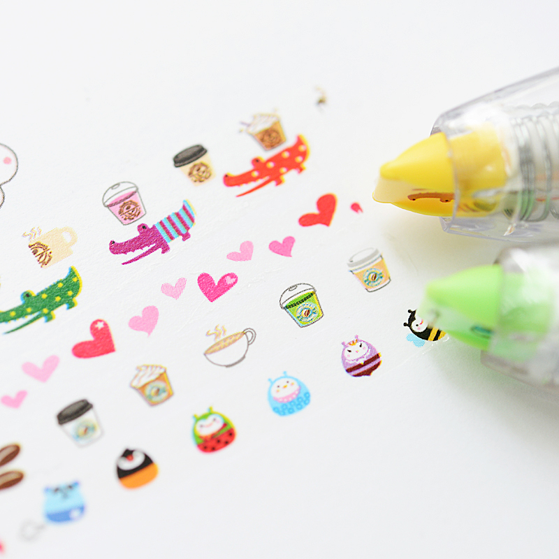 Korea-Stationary-Sweet-Floral-Correction-Tape-Pen-Sticker-Kids-Students-Decorative-Masking-Tapes-Adesivos-Label-Tape-Stickers-1