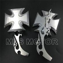 For Motorcycle Kawasaki Ninja All year model CHROME Alloy Maltese Cross Custom Mirror
