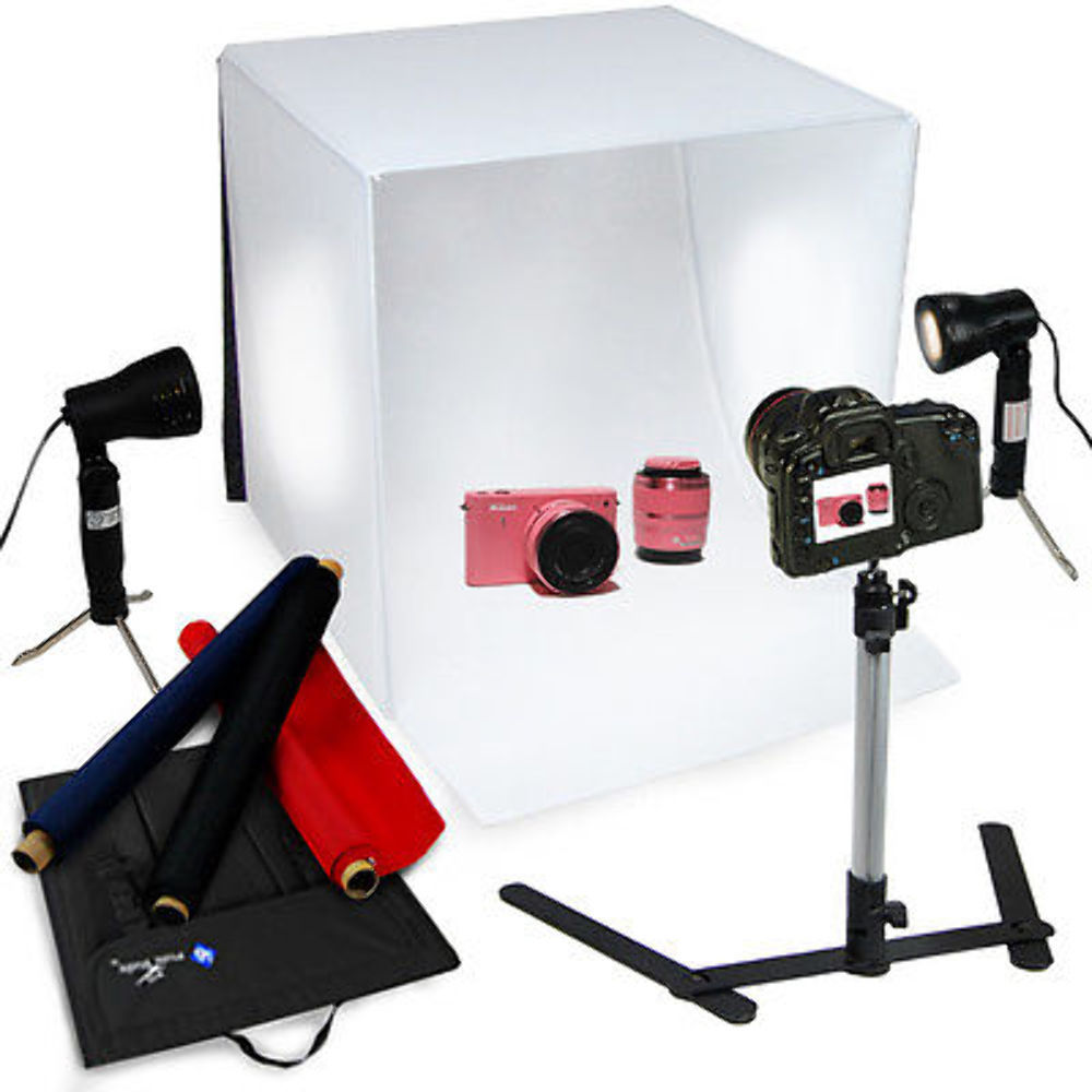 "Optex Photo Studio Lighting Kit Review: 24"" Softbox Light Box Cube Photography Lighting Photo"