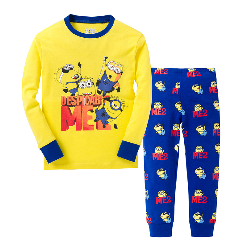 Children Cotton Minion Despicable Me Clothes Spring All for Kid Clothes And Accessories Pajamas Sets Sleepwear Sport Suit