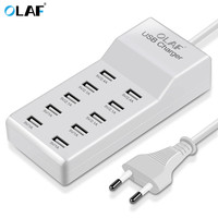 UK/US/EU Plug 10 Ports Multiple Wall USB Charger Smart Adapter Mobile Phone Tablet Charging Device For iPhone Samsung Xiaomi
