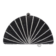 LaiSC hard shell clutch taschen schwarz Luxus kristall diamant abendtaschen weiß sparkly parteibeutel Kupplung pochette hochzeit taschen SC90