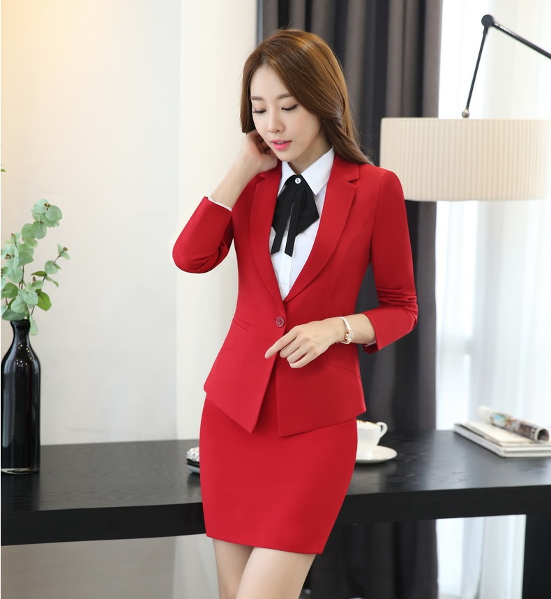 Popular Red Skirt Suit-Buy Cheap Red Skirt Suit lots from China ...
