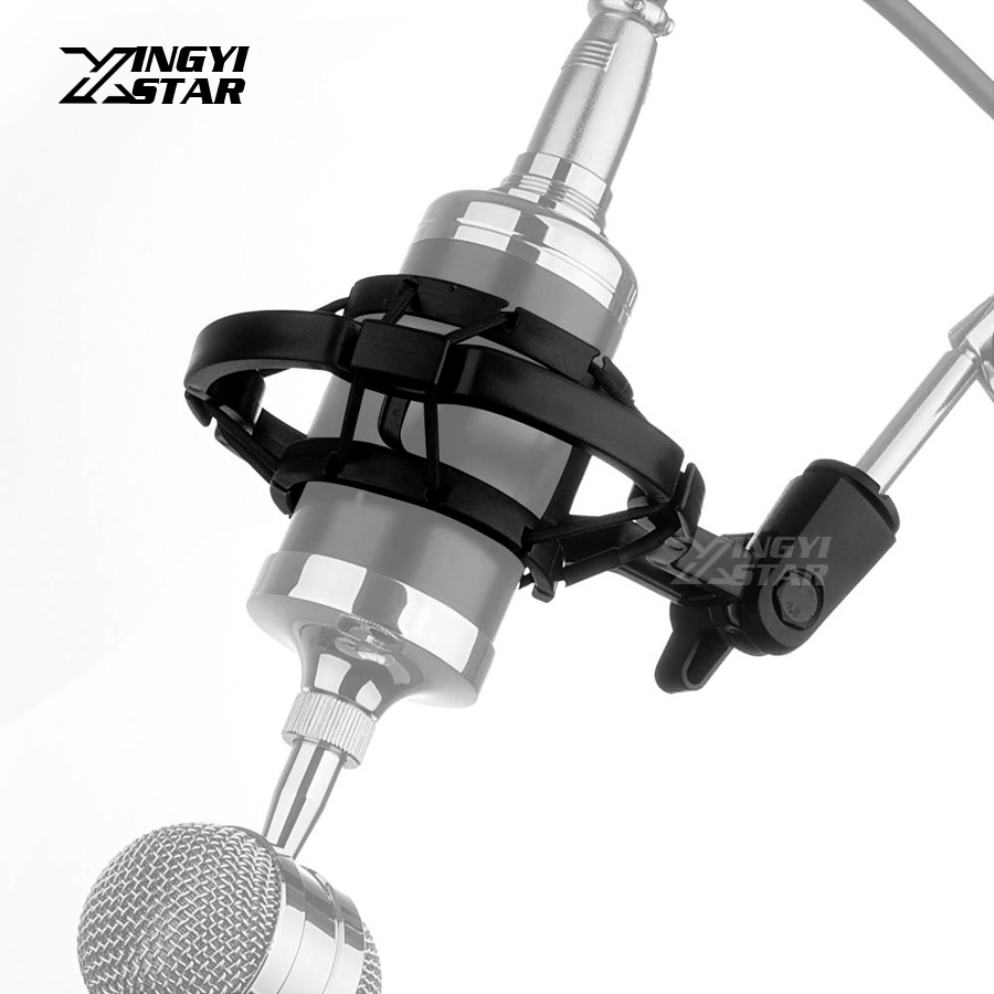 PC Studio Recording Condenser Microphone Shock Mount Shockmount Mic Holder Clip Clamp Desktop Stand Suspension Spider BM 800 700 image
