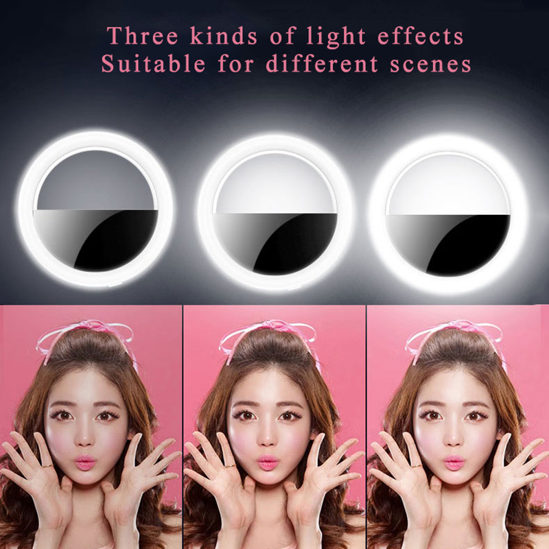 cheapest 4 7inch 6 2inch Selfie Ring Light with Desk Stand 360-degree Rotatable Ball Head Stabilizer Dimmable USB Ring Light for Photography