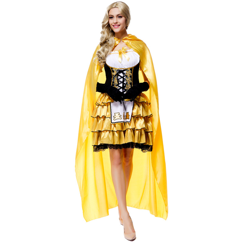online shop fairy tale goldilocks girls cosplay clothing halloween cosplay costume party queen dress with cloak halloween cosplay costumes aliexpress - Goldilocks Halloween Costumes