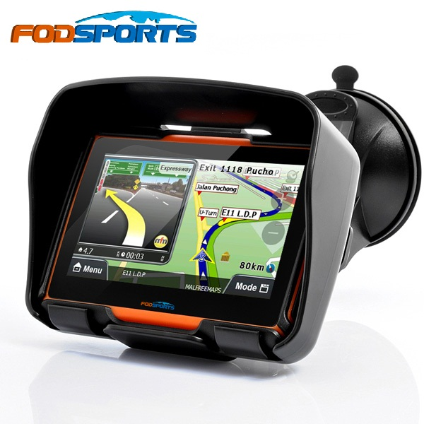 Fodsports 2018 Updated 256M RAM 8GB Flash 4.3 Inch Moto GPS Navigator Waterproof Bluetooth Motorcycle gps Navigation Free Maps