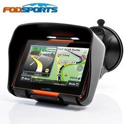 Fodsports Bijgewerkt 256M RAM 8GB Flash 4.3 Inch Moto GPS Navigator Waterdichte Bluetooth Motorfiets gps Auto Navigatie Gratis kaarten
