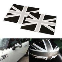 2 Union Jack UK Flag Vinyl Stickers For Mini Cooper Side Mirrors Left Right