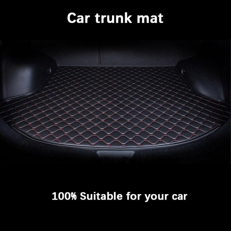 car trunk mats for SEAT all models LEON Ibiza Cordoba Toledo Marbella Terra RONDA car styling floor mat Custom Cargo Liner