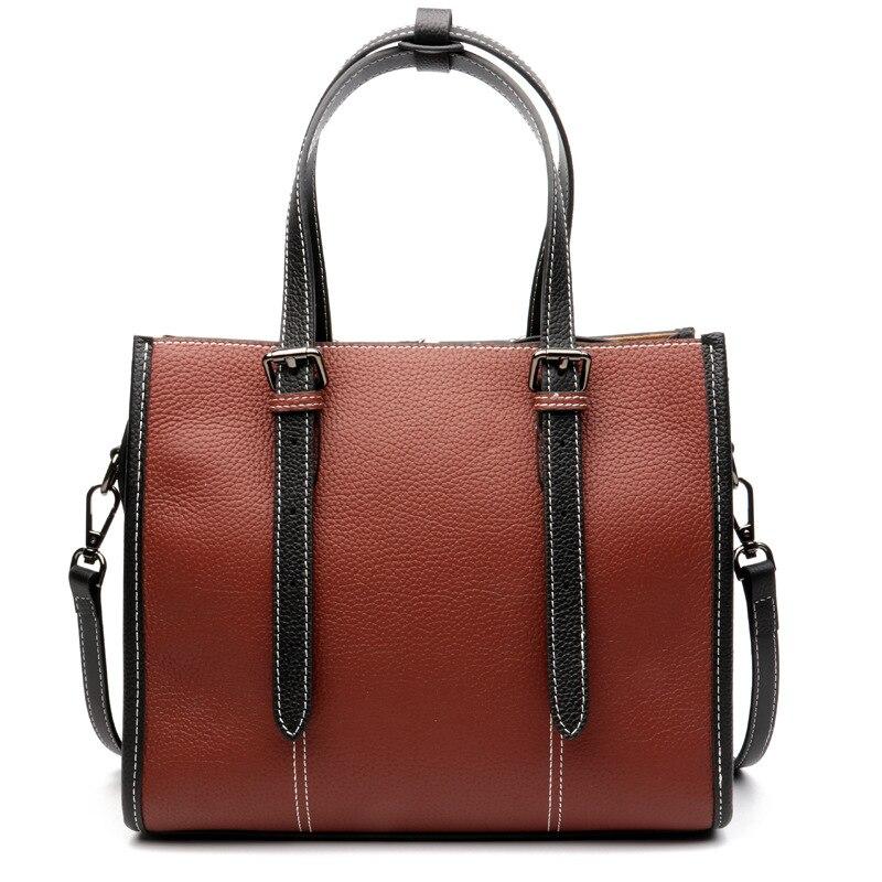 все цены на New 2018 Women leather Shoulder Bag COW bag Casual Handbags small messenger bag fashion 100% genuine leather including shipping