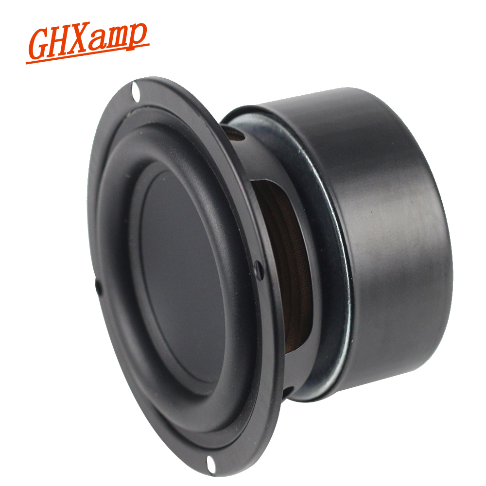 Round Subwoofer Bass Speaker 3 INCH 4OHM Flax Cone Low frequency Clean Desktop Bluetooth DJ Speakers DIY 15-25W 1Pairs