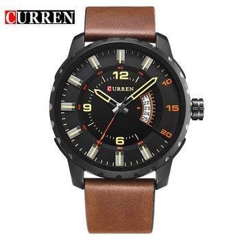 Big Dial Sports Style Mens Watches Top Brand Luxury Fashion Sports Wristwatch Clock Men Quartz Watch Relogios Curren Watch 8245 1