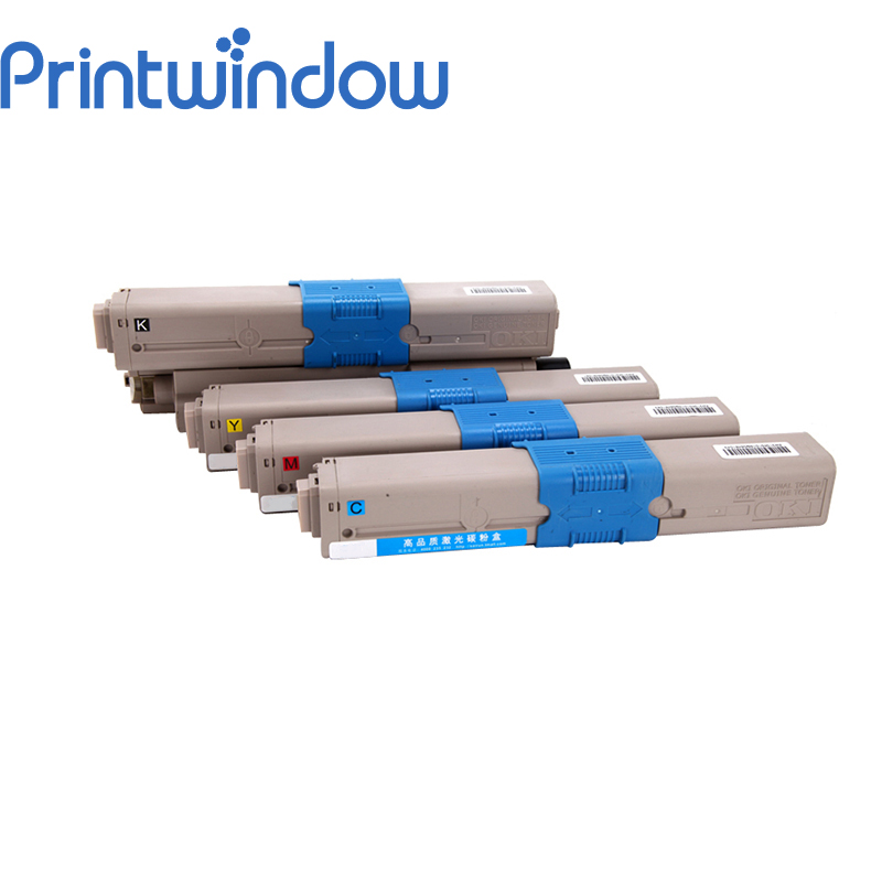 Printwindow 4X/Set Compatible Toner Cartridge for OKI C310 C330DN MC351 MC361 C510DN C530DN 561 C331DN 4 pack high quality toner cartridge oki mc860 mc861 c860 c861 color printer full compatible 44059212 44059211 44059210 44059209