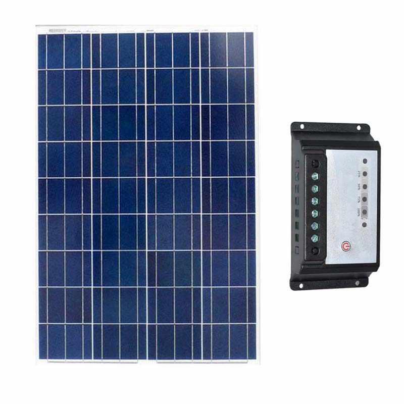 Комплект Panneau Solaire Et Batterie 12 В 100 Вт солнечное зарядное устройство контроллер 12 В/24 В 20A кемпинг автомобиль Caravane 12 в зарядное устройство на солнечной батарее