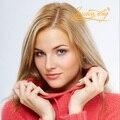 4 В Beautie Блондинка Цвет Волос Полный Инъекции Кожи Человека Женщины Парик, без Сучков женщин замены Волос С Четким ПУ