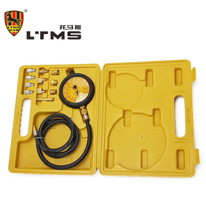 Automatic Gearbox Pressure Car Gauge Petrol Engine Compression Test Gauge Tester Kit Tool Set  Dual Scale cylinder Compression  fuel injection pressure car gauge petrol engine set dual scale cylinder compression carburetor pressure diagnostic tool tester
